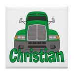 Trucker Christian Tile Coaster