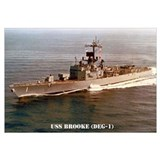 USS BROOKE Wall Art