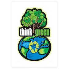 Think Green Wall Art