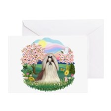 Blossoms-ShihTzu#10 Greeting Card