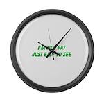 not fat Large Wall Clock