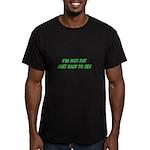not fat Men's Fitted T-Shirt (dark)