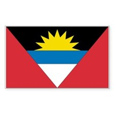 Antigua & Barbuda Rectangle Decal