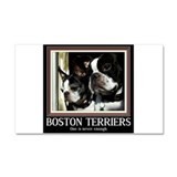 Double Boston Car Magnet 20 x 12