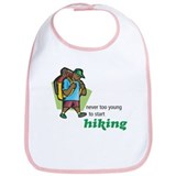 Never Too Young to Start Hiking Bib