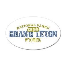 Grand Teton National Park Wyo 38.5 x 24.5 Oval Wal
