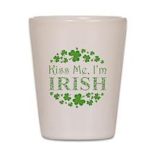 Kiss Me, I'm Irish Shot Glass