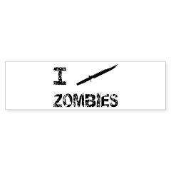 I Stab Zombies Sticker (Bumper 10 pk)