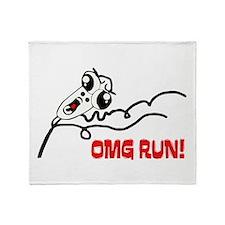 OMG RUN! Throw Blanket