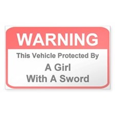 Fencing Vehicle Warning - Rectangle Decal