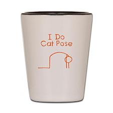 Orange Cat Pose Shot Glass
