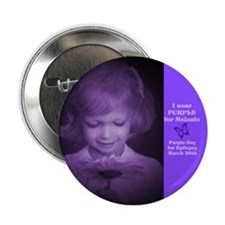 "Melanie with flower 2.25"" Button (10 pack)"