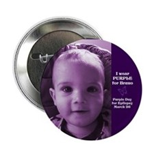 "Bruno in Purple 2.25"" Button (10 pack)"