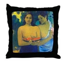 Gauguin - 2 Tahitian Women Throw Pillow