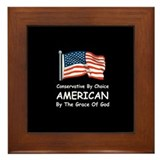Conservative By Choice Framed Tile