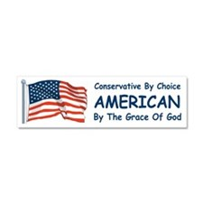 Conservative By Choice Car Magnet 10 x 3