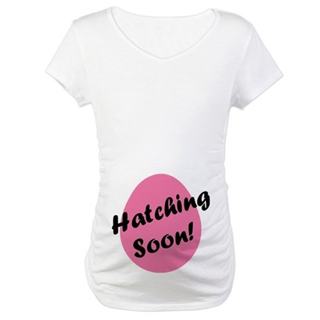 Hatching Soon Easter Egg Maternity T-Shirt