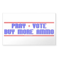 Pray-Vote-Buy Ammo Decal