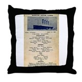 3rd Class Daily Menu Throw Pillow