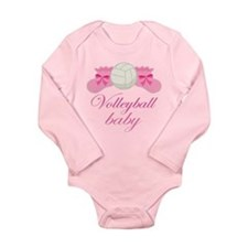Volleyball Baby Gift Long Sleeve Infant Bodysuit