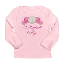 Volleyball Baby Gift Long Sleeve Infant T-Shirt