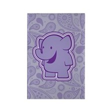 Violet Trunkle Rectangle Magnet