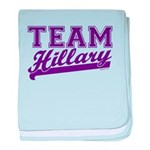 Team Hillary Purple baby blanket