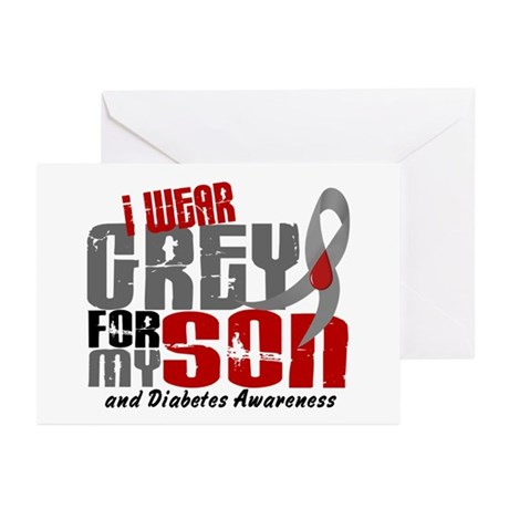 I Wear Grey 6 Diabetes Greeting Cards (Pk of 20)