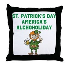 Alchoholiday Throw Pillow