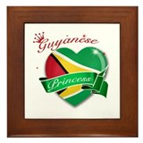 Guyanese Princess Framed Tile
