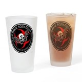 Zombie Squad 3 Ring Patch Rev Drinking Glass