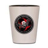 Zombie Squad 3 Ring Patch Rev Shot Glass