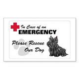 Please Rescue Scottie Rectangle Decal