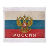 Vintage Russia Throw Blanket
