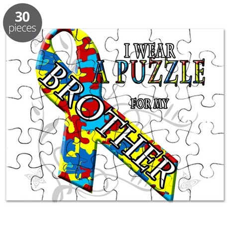 I Wear A Puzzle for my Brothe Puzzle