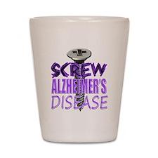 Screw Alzheimer's Disease Shot Glass