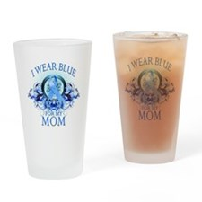 I Wear Blue for my Mom (flora Drinking Glass