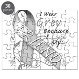 I Wear Grey, I Love My Friend Puzzle