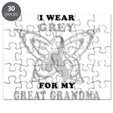 I Wear Grey for my Great Gran Puzzle