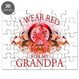 I Wear Red For My Grandpa (fl Puzzle
