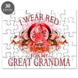 I Wear Red For My Great Grand Puzzle