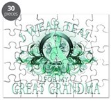I Wear Teal for my Great Gran Puzzle