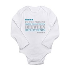 Cute Military spouse Long Sleeve Infant Bodysuit