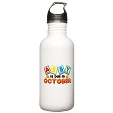 Abby is Due in October Water Bottle