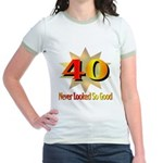 40th Birthday Jr. Ringer T-Shirt