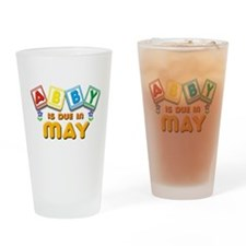 Abby is Due in May Drinking Glass