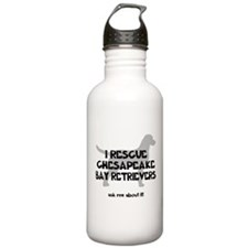 I RESCUE Chesapeake Bay Retrievers Sports Water Bottle