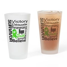 Lymphoma Survivor Drinking Glass