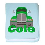 Trucker Cole baby blanket