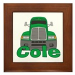 Trucker Cole Framed Tile